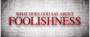 foolishness#1