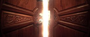 open door light vintage