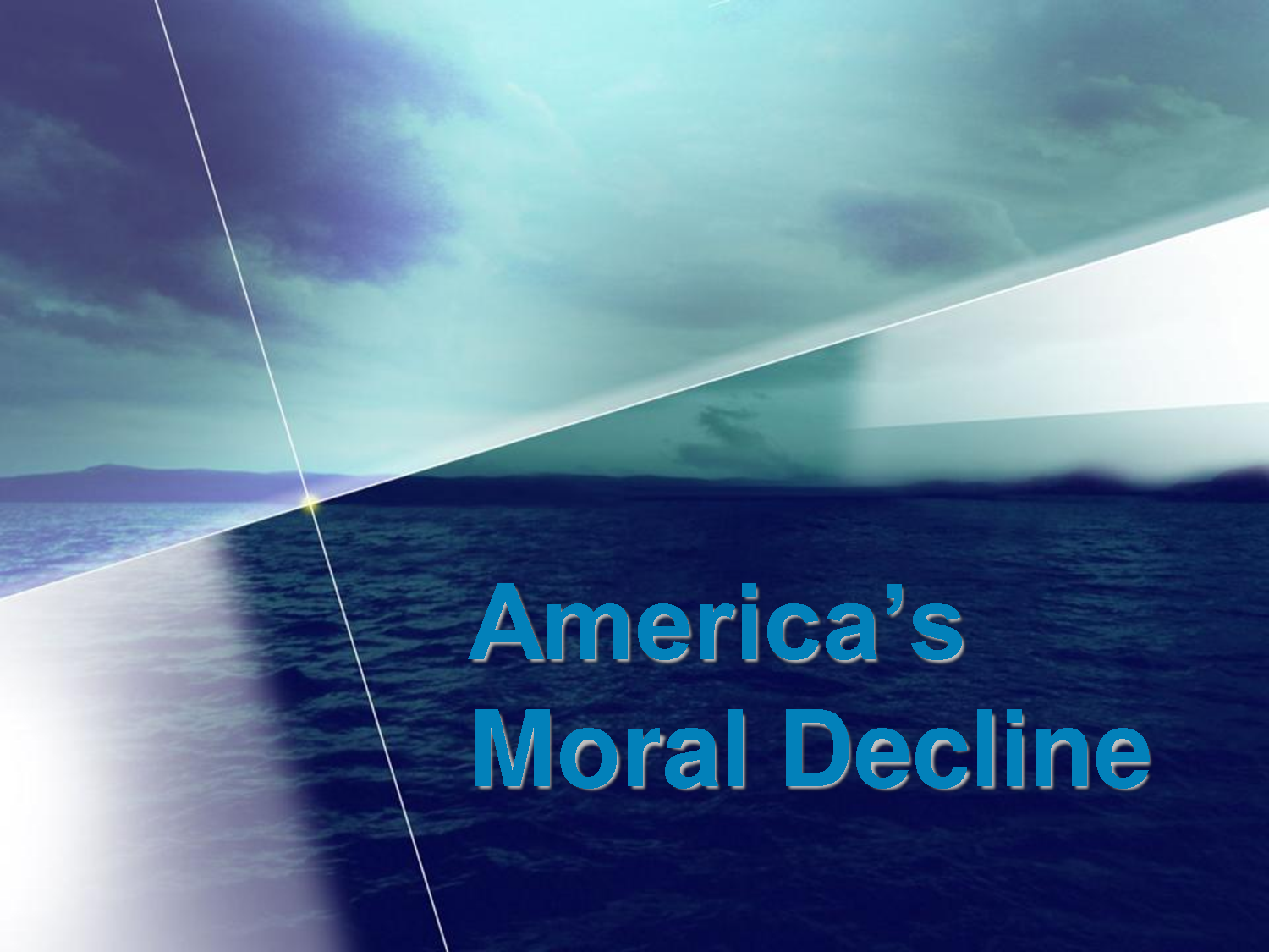 americas moral decline essay In this essay i will discuss why parents have been failing at modeling moral values for children, focusing on parenting time and other family conditions for childrearing in a recent poll of adult americans conducted by the wall street journal, moral decline was stated to be the biggest problem that america will face in the next twenty years.