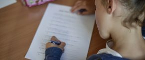 A pupil writes in an elementary school on September 2, 2014 in Paris, after the start of the new school year. AFP PHOTO / FRED DUFOUR        (Photo credit should read FRED DUFOUR/AFP/Getty Images)