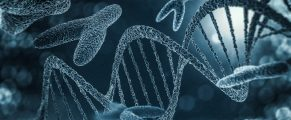Chromosomes, gene mutation, genetic code. 3D rendering