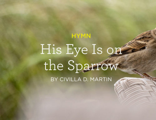 """Hymn: """"His Eye Is on the Sparrow"""" by Civilla D. Martin"""